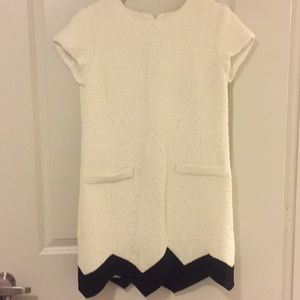 Moschino white black tweed dress 10